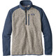 Patagonia M's Better Sweater 1/4 Zip Bleached Stone w/Dolomite Blue